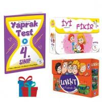 5 Renk Yayınevi 4.Sınıf Yaprak Test-İyi Fikir Hikâye Seti-Timaş Yayınları Levent İz Peşinde-3 Hikâye Seti